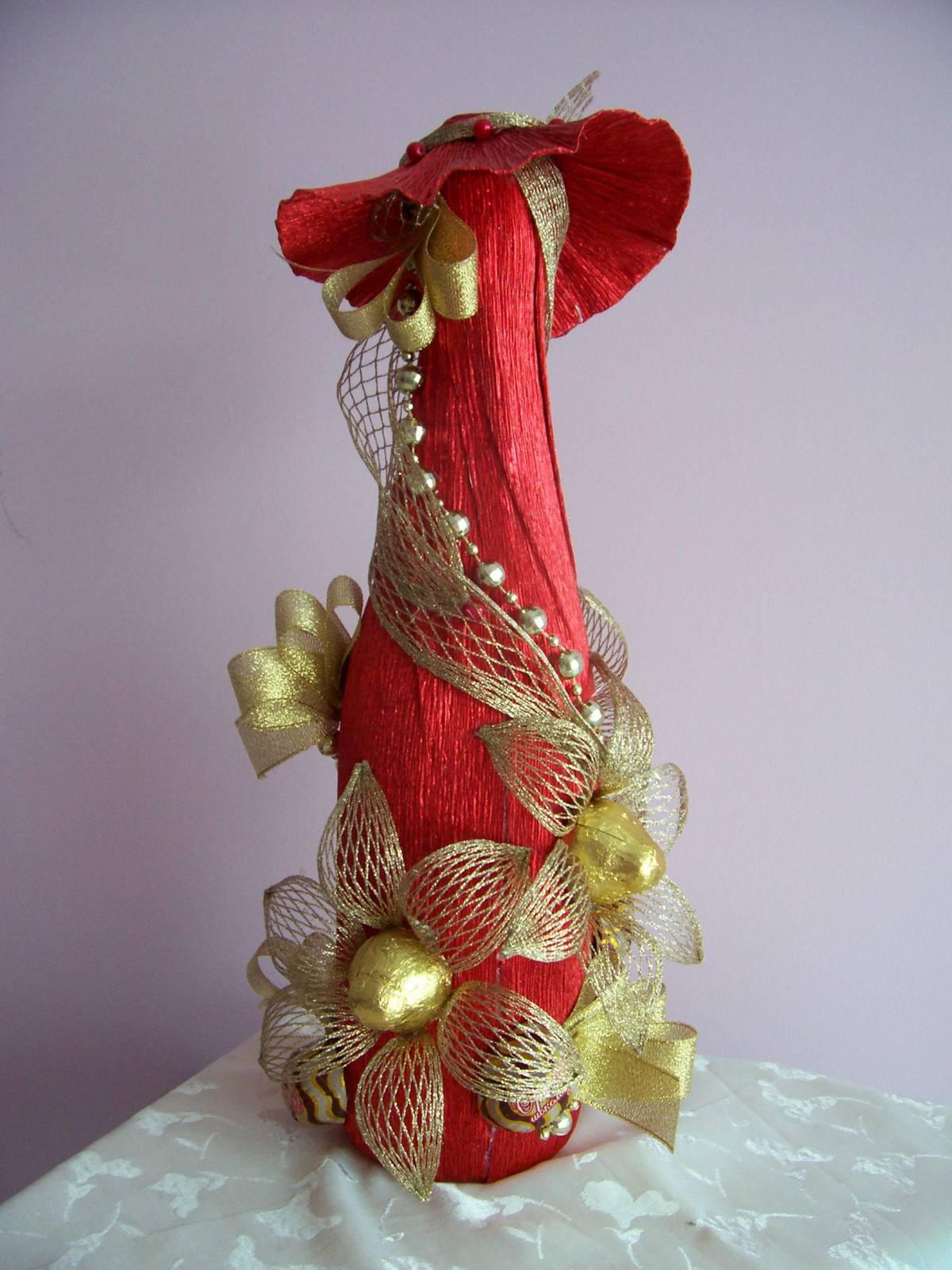 Букеты из конфет, декор бутылок вина и шампанского Olga Malinovskaya 50